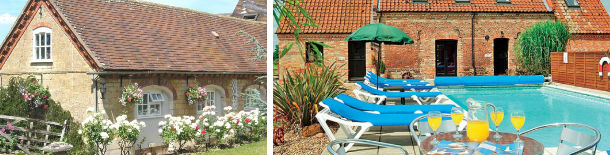 holiday cottages with swimming pools
