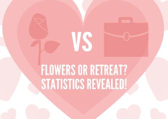Flowers Vs Retreat this Valentine's Day