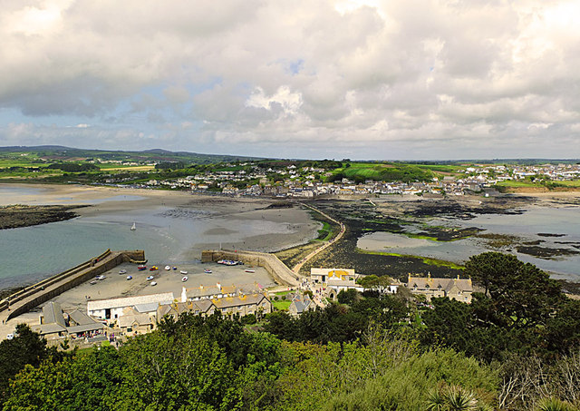 SW5130 : Causeway and Marazion from St Michael's Mount