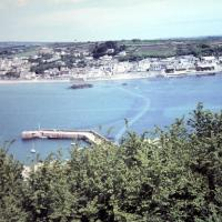 SW5130 : View from St Michael's Mount to Marazion 1969