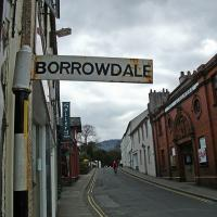 NY2623 : Signpost to Borrowdale