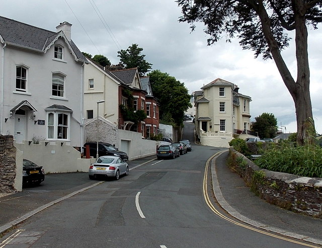 SX8751 : Vicarage Hill, Dartmouth