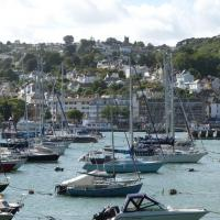 SX8751 : View across Dartmouth Harbour from the Paignton - Kingswear train