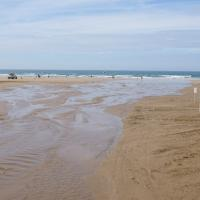 SS4543 : Stream on the beach at Woolacombe