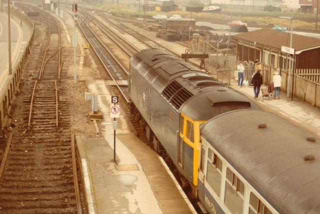 SZ0191 : North End of Poole Station, 1984