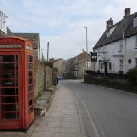 SZ0278 : Swanage: a phone box and the Black Swan
