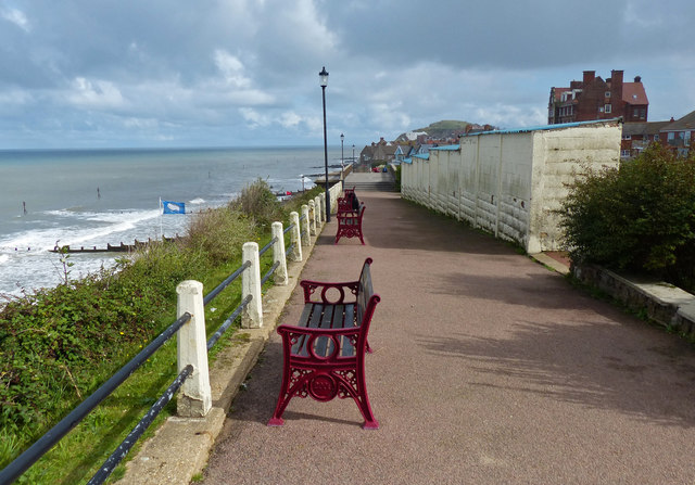 TG1543 : The Esplanade overlooking Sheringham sea front