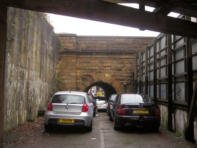 SE3055 : Car park by the railway, Harrogate