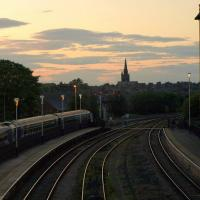 SE3055 : Sunset over Harrogate Station